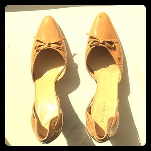 Late Spade Tan Patent Leather Heals Size 10